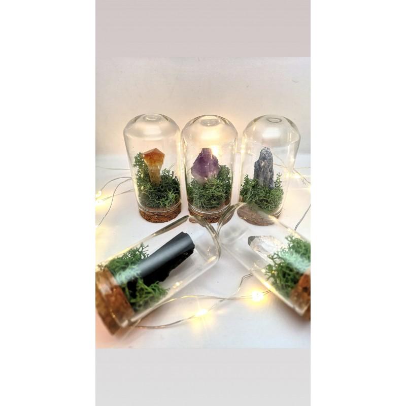 cristal energetic pentru birou cristale energetice 7 chakre cristale brute pentru birou in mini cupola 2