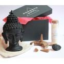 set statueta buddha astral box - seturi cristale energetice set cu statueta buddha neagra, lumanare chakra si cristale energetice 4