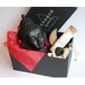 set statueta buddha astral box - seturi cristale energetice set cu statueta buddha neagra, lumanare chakra si cristale energetice 3