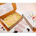set pietre de masaj gua sha - 2 cuart roz accesorii pentru starea ta de bine! set pietre de masaj gua sha din cuart roz 4