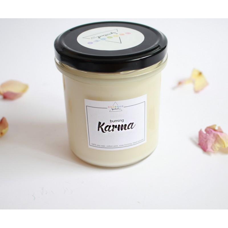 "lumanare parfumata ""arderea karmei"" lumânãri parfumate cele 7 chakre lumanare din soia ""burning karma"" 2"