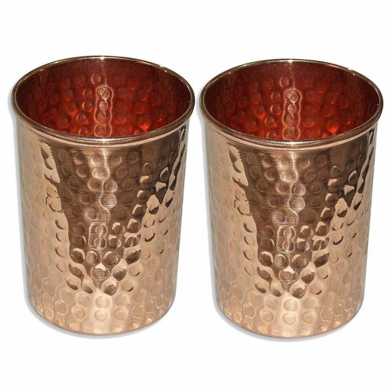 set 2 pahare cupru accesorii pentru starea ta de bine! set 2 pahare cupru realizate manual 2