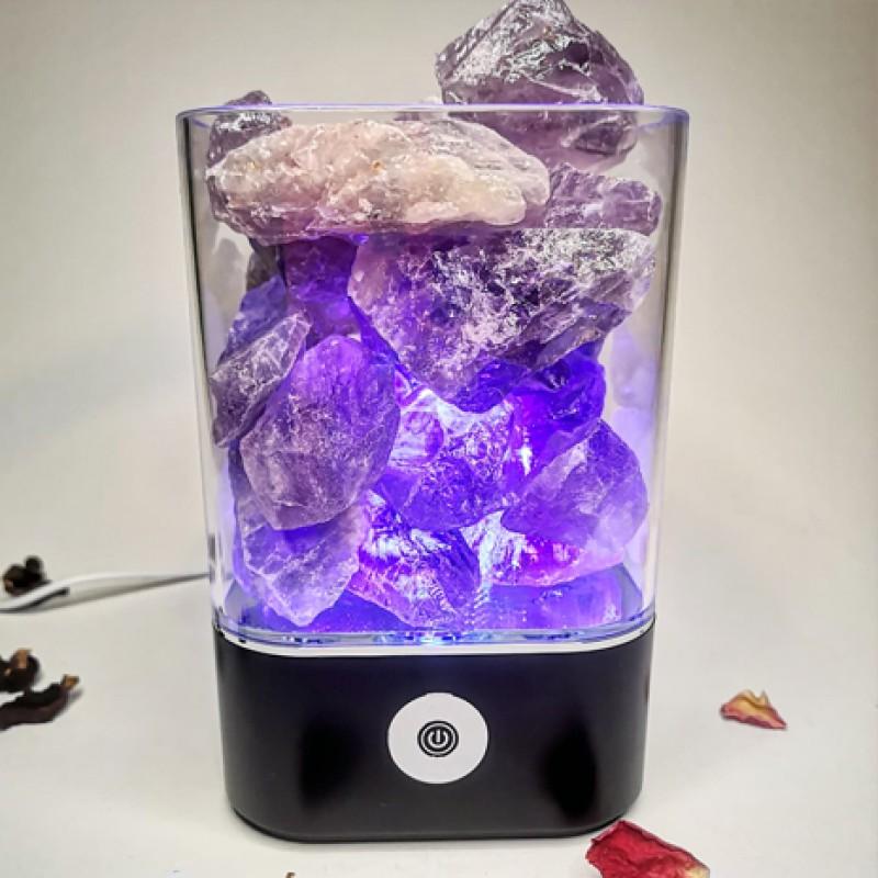 lampa cu cristale de ametist accesorii pentru starea ta de bine! lampa cu cristale de ametist 2