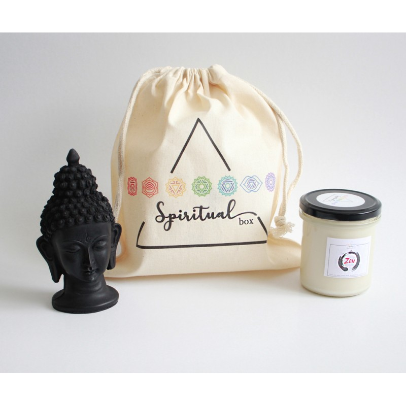 set lumanare zen harmony box set zen cu lumanare parfumata si statueta buddha 2